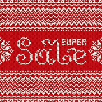 Banner de súper venta en estilo tradicional suéter de punto fair isle