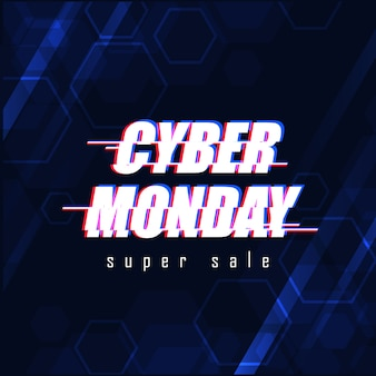 Banner de super venta de lunes cibernético