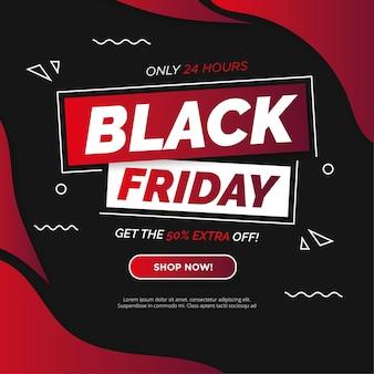 Banner de super venta de viernes negro moderno