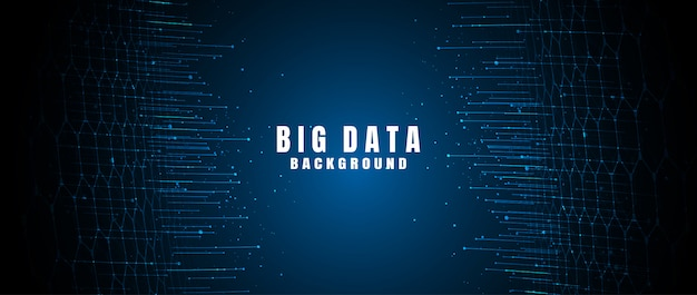 Banner de tecnología abstracta con big data