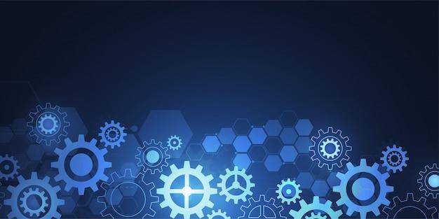 Banner de tecnología abstracta de la ciencia
