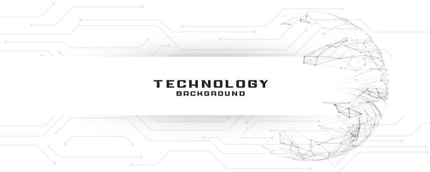Banner de tecnología digital con líneas de circuito.