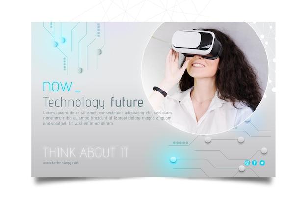 Banner de tecnología y futuro