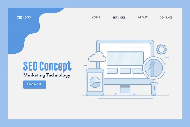 Banner de tecnología de marketing seo