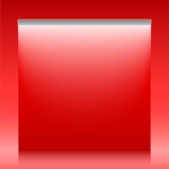 Banner de telón de fondo de vector rojo con luz de neón