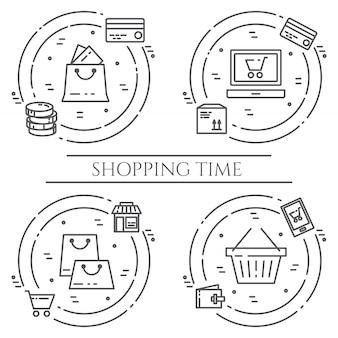 Banner de tema de compras.