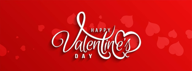 Banner de texto hermoso feliz día de san valentín