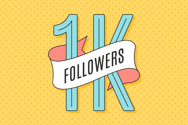 Banner con texto mil seguidores
