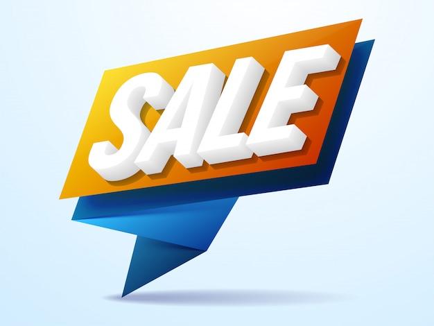 Banner de texto de venta 3d