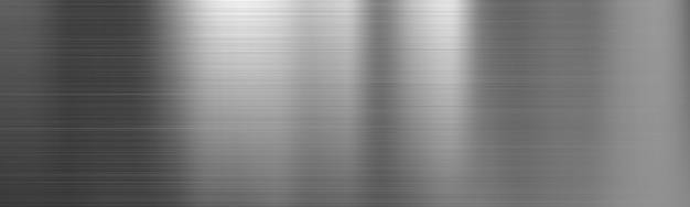 Banner de textura de degradado de acero metal cepillado