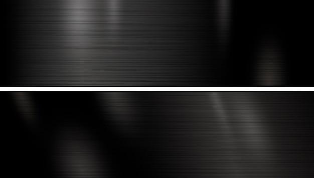 Banner de textura de metal negro