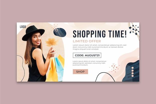 Banner de tiempo de compras en línea