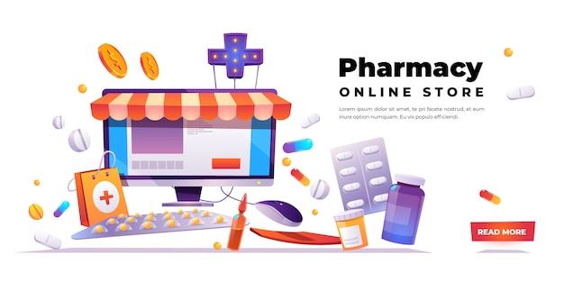 Banner de tienda en línea de farmacia