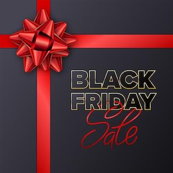 Banner de tipografía de venta de viernes negro