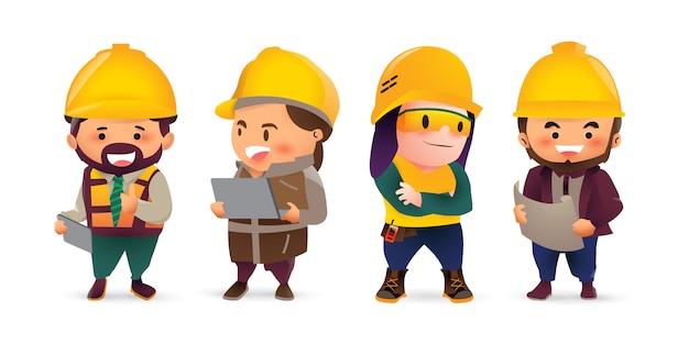 Banner de trabajador de la construcción