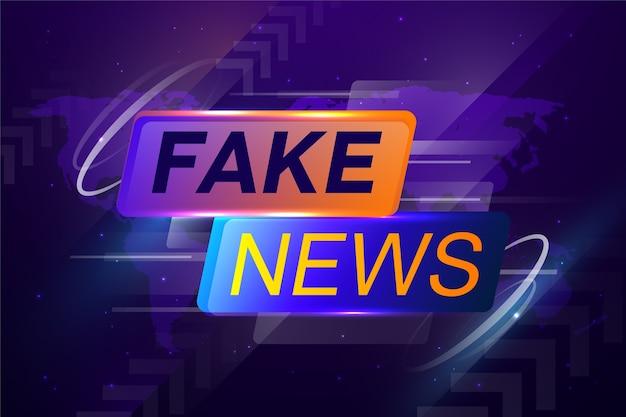 Banner de transmisión en vivo de noticias falsas