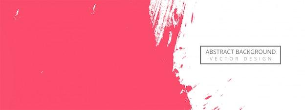 Banner de trazo de acuarela rosa abstracta