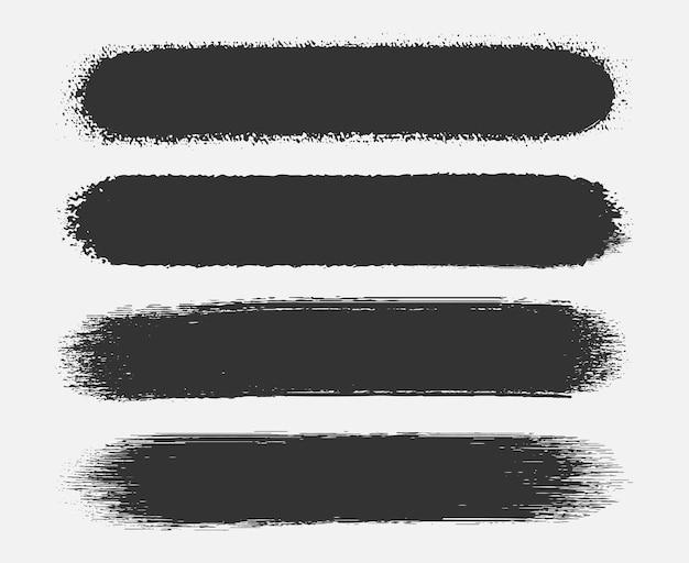 Banner de trazo de pincel abstracto grunge