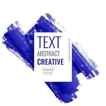 Banner de trazo de pincel azul índigo con copyspace