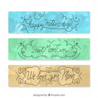 Banner triple del día de la madre