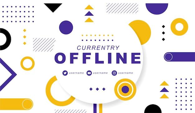 Banner de twitch actualmente fuera de línea