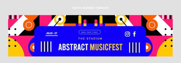 Banner de twitch festival de música plana