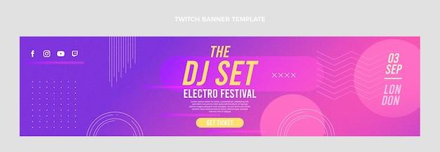 Banner de twitch de festival de música de textura degradada