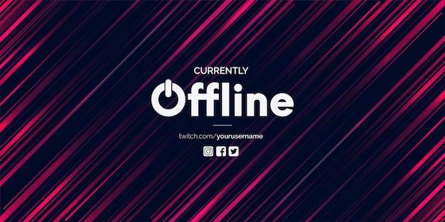 Banner de twitch moderno sin conexión