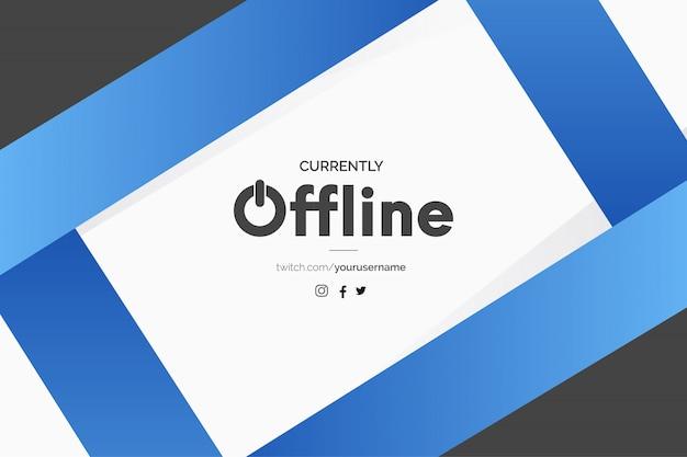 Banner de twitch moderno con plantilla de formas abstractas azules