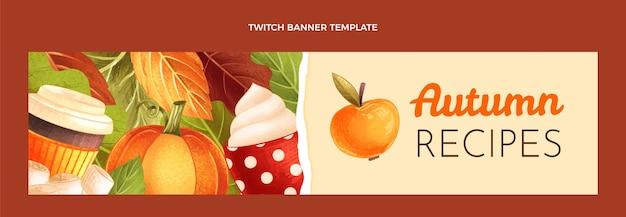 Banner de twitch de otoño dibujado a mano