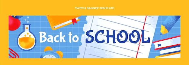 Banner de twitch de regreso a la escuela dibujado a mano