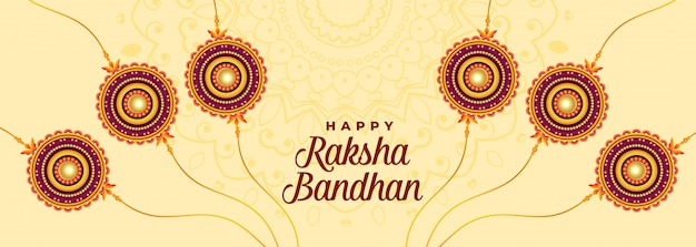 Banner de vacaciones indio raksha bandhan