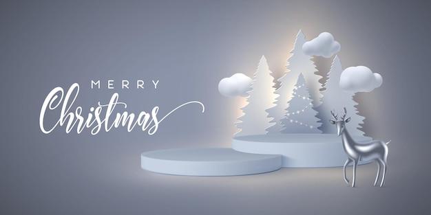 Banner de vacaciones de navidad.