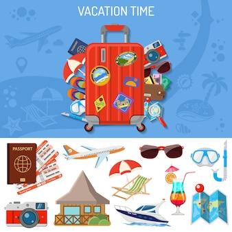 Banner de vacaciones y turismo