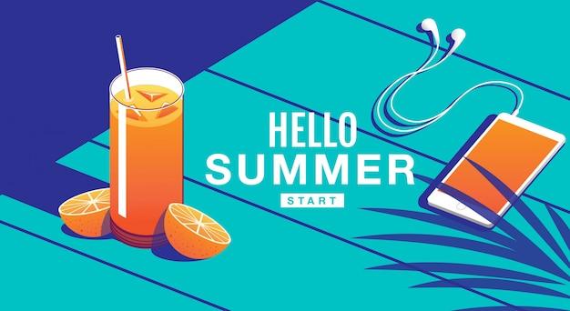 Banner de vacaciones de verano