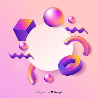 Banner vacío con formas geométricas tridimensionales