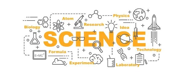 Banner de vector de ciencia