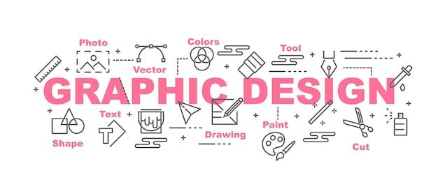 Banner de vector de diseño gráfico
