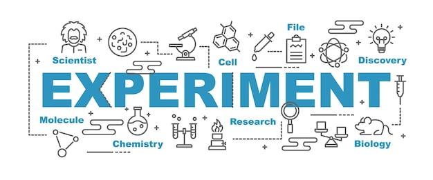 Banner de vector de experimento