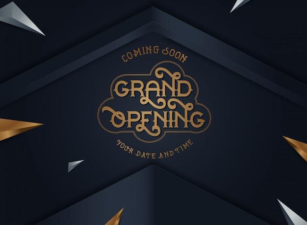Banner de vector de gran apertura