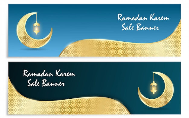 Banner de vector de ramadan kareem