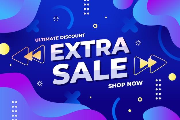 Banner de venta abstracto colorido