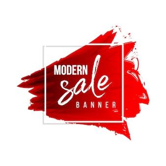 Banner de venta de acuarela moderna