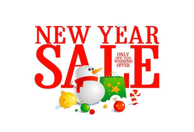Banner de venta de año nuevo.