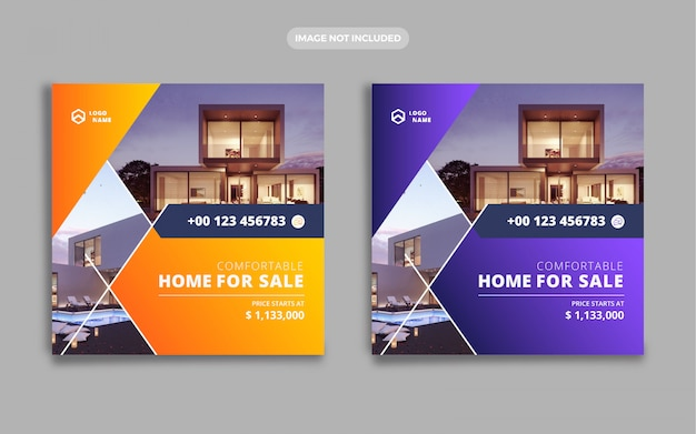 Banner de venta de casas de bienes raíces