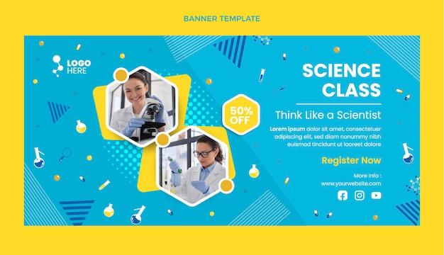 Banner de venta de ciencia de diseño plano