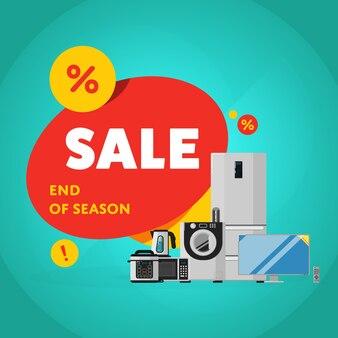 Banner de venta de descuento de electrodomésticos