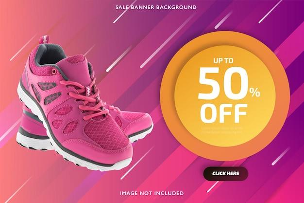 Banner de venta de descuento rosa