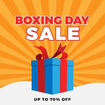 Banner de venta del día del boxeo