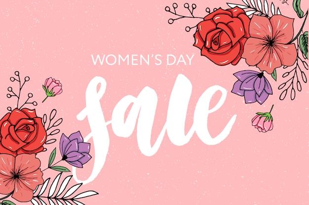 Banner de venta del día de la mujer feliz